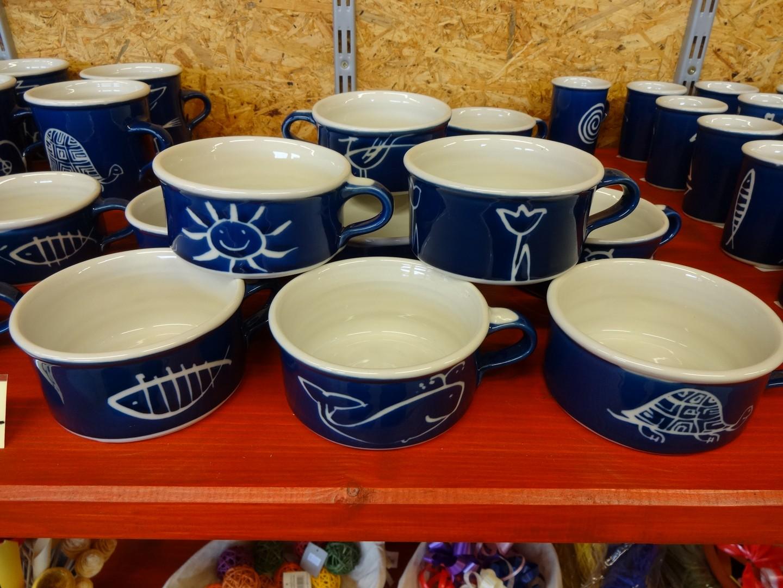 modrý porcelán - hrnek k PC
