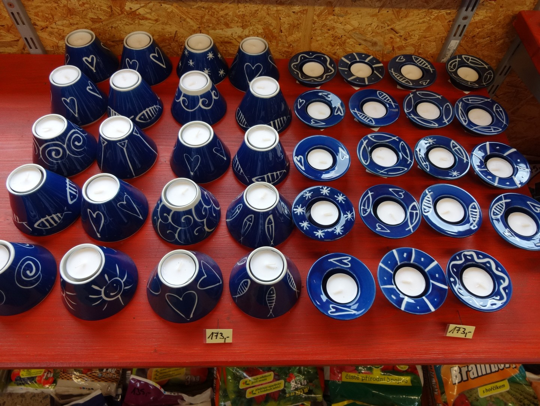 modrý porcelán - svícny