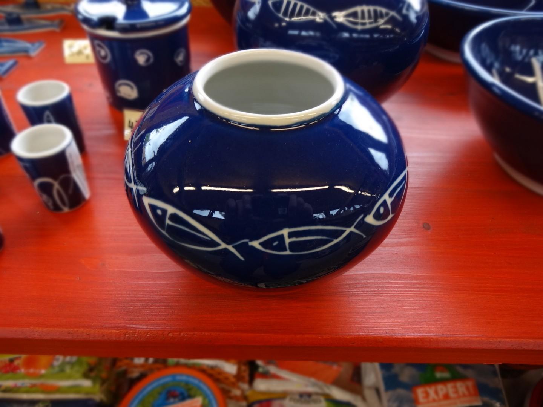 modrý porcelán - váza malá