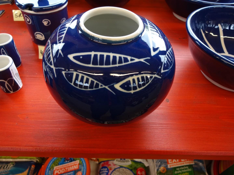 modrý porcelán - váza velká