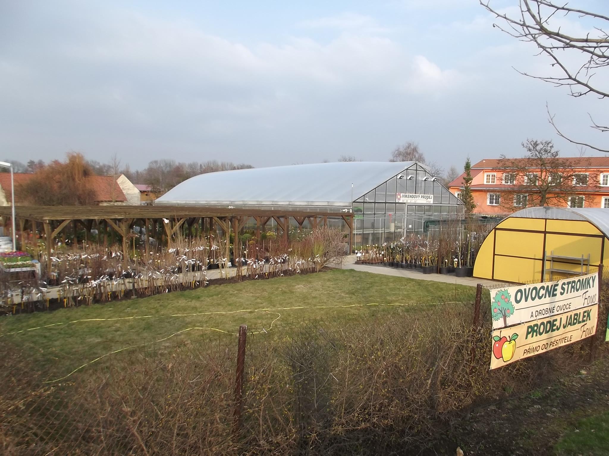 zahrada plná ovocných dřevin